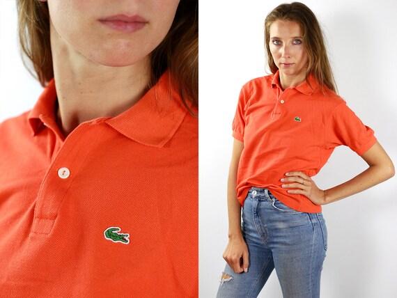 Lacoste Poloshirt Orange Poloshirt Lacoste Polo Shirt Vintage Lacoste Polo Shirt Lacoste Shirt Orange Polo Shirt Vintage Polo Lacoste Top