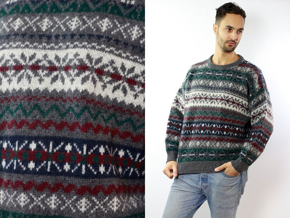 Woolrich Wool Jumper Fair Isle Jumper Norwegian Sweater Norwegian Jumper Scandinavian jumper scandinavian Sweater Nordic Jumper Nordic P64