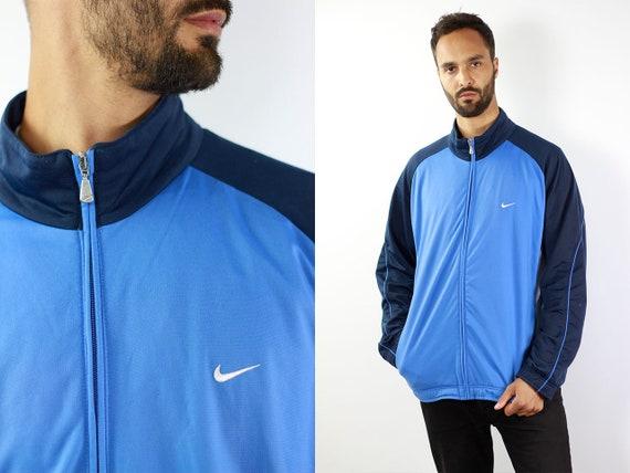 Nike Windbreaker Nike Track Jacket Vintage Windbreaker Vintage Nike Jacket Nike Shell Jacket Nike Nylon Jacket Blue Windbreaker 90s Nike