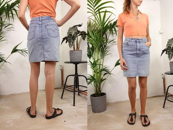 Levis Denim Skirt High Waist Skirt Levis Jean Skirt Denim Skirt Vintage Jean Skirt High Waisted Skirt Levis Retro Vintage Clothing R25