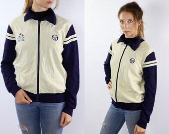 Vintage Windbreaker Jacket 90s Windbreaker Vintage Shell Jacket Sergio Tacchini Jacket 90s Shell Jacket Vintage Track Jacket 90s Jacket