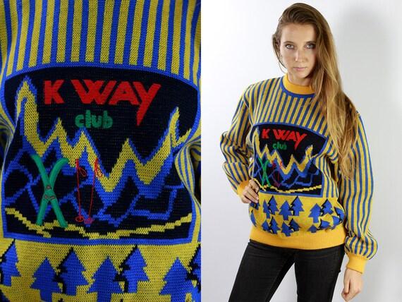 K-Way Wool Jumper Fair Isle Jumper K-Way Wool Sweater Vintage K-Way Jumper Vintage K-Way Sweater K-WayVintage K-Way 90s Wool Jumper P58