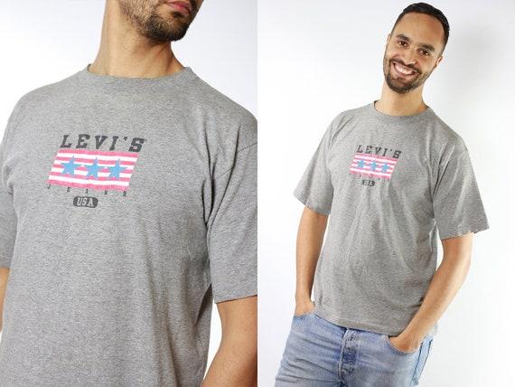 Levis T-Shirt Levis T Shirt Vintage T-Shirt Oversized T-Shirt Vintage 80s T-Shirt Large T-Shirt Oversize 90s T-Shirt Vintage Clothing T9