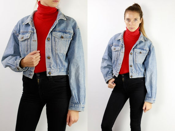 Vintage Denim Jacket Vintage Jean Jacket Blue Denim Jacket Cropped Denim Jacket Cropped Jean Jacket Grunge Denim Jacket Small Jean JacketDJ5