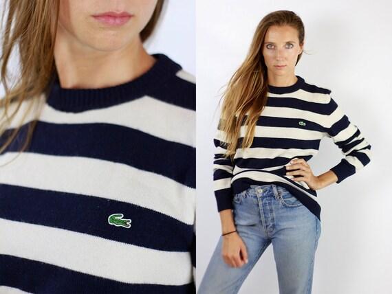 Lacoste Sweater Lacoste Jumper Lacoste Wool Sweater  Vintage Lacoste  Lacoste  Oversize Wool Jumper Oversize Wool Sweater  90s WP78