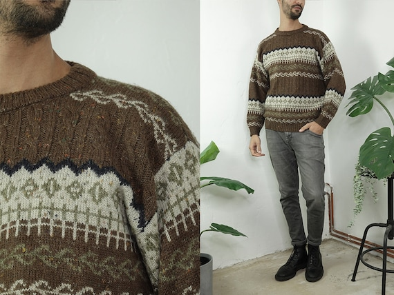 Wool Jumper Fair Isle Jumper Norwegian Sweater Norwegian Knitted jumper Scandinavian Sweater Nordic Jumper Vintage Clothing WP281