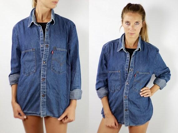 LEVIS Denim Shirt Levis Jean Shirt Levis Shirt Levis 90s Levis Shirt 90s Jean Shirt 90s Denim Shirt Vintage Shirt Denim Shirts Grunge H78