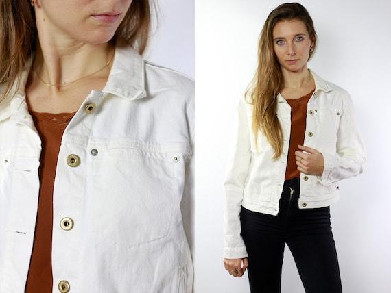 Vintage Denim Jacket Oversize Denim Jacket White Denim Jacket Vintage Jean Jacket Oversize Jean Jacket White Jean Jacket Ralph Lauren Jacket