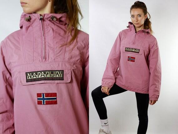 Napapijri Jacket Pink Jacket Zip Jacket Waterproof Jacket Rain Jacket Festival Jacket Festival Clothing Womens Jacket Vintage Clothing JA90
