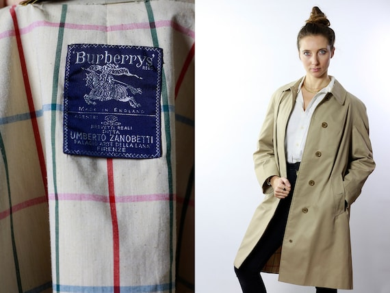 BURBERRYS Trenchcoat Vintage Burberry Coat Beige Women Trenchcoat BURBERRY Trench Coat Vintage Coat Burberry Jacket Beige Coat Burberrys C53