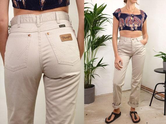 High Waist Trousers High Waisted Trousers High Waist Pants Wrangler Pants Beige Trousers Women Trousers Women Pants Vintage Clothing HS49