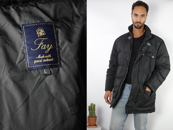 Puffer Jacket Down Jacket Fay Puffer Jacket 90s Puffer Jacket Grey Puffer Jacket Fay Down Jacket 90s down jacket Vintage Puffer JA124
