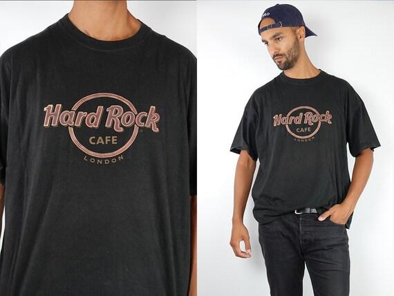 Hard Rock Cafe T-Shirt Hard Rock Cafe Shirt Black T-Shirt Hard Rock Cafe London Vintage Hard Rock T-Shirt Black London T-Shirt T87