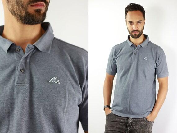 Kappa Poloshirt Kappa T-Shirt Kappa Grey Poloshirt Kappa Vintage T Shirt Kappa T Shirt Grey  Kappa Shirt Large Poloshirt