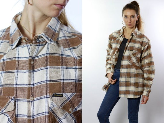 Vintage Wrangler Shirt Retro Button Shirt Lumberjack Shirt Oxford Shirt Vintage Women Shirt 90s Top T Shirt Oversize Shirt Button HE22