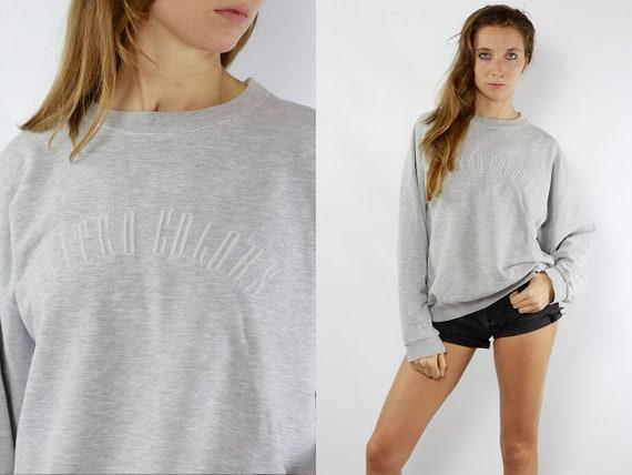 United Colors Sweater Grey 90s Sweatshirt Grey United Colors Of Benetton Jumper Grey Sweat Shirt United Colors Sweatshirt Jumper Vintage 90s