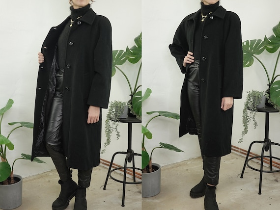 Vintage Coat Vintage Wool Coat Black Vintage Coat