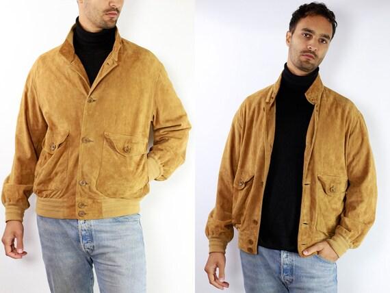 Vintage Suede Jacket Vintage Suede Bomber Suede Bomber Jacket Brown Suede Jacket Brown Bomber Jacket Soft Suede Jacket Large Suede SUJ2