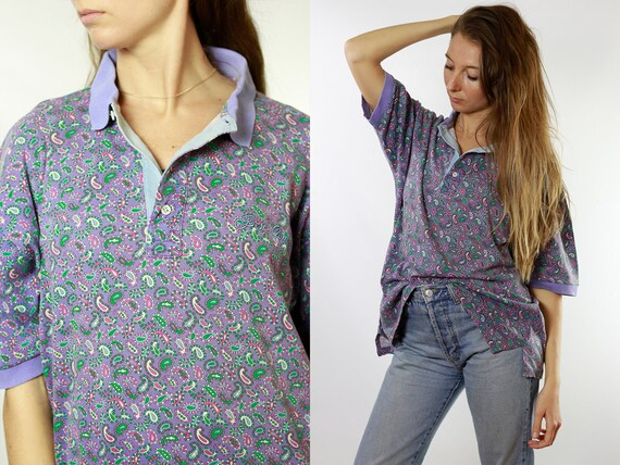 Vintage T-Shirt Vintage T Shirt 90s T-Shirt Oversize T-Shirt Vintage T-Shirts Vintage Clothing Womens T Shirt Paisley T Shirt T7