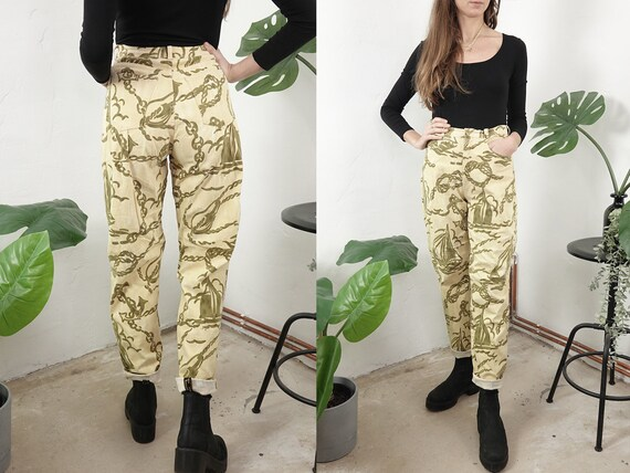 High Waist Trousers High Waisted Trousers High Waist Pants Sailor Pants Linen Trousers Women Pants Second Hand Vintage Clothing HS72