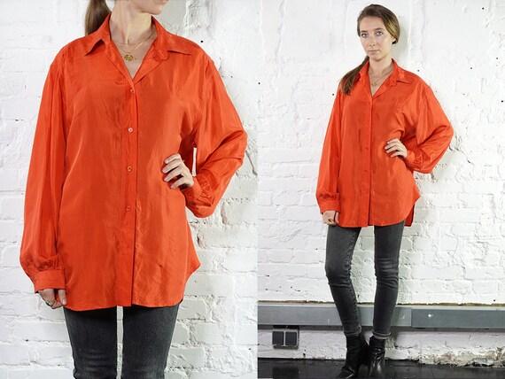 Summer blouse Silk Shirt Vintage 80's Shirt Womens Shirt Vintage Shirts Womens Shirt Vintage Clothing Loose Shirt Blue Blouse SB16