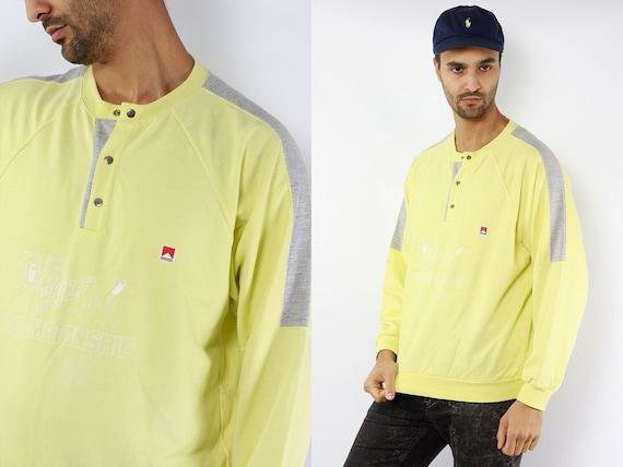 Marlboro Sweatshirt Marlboro Jumper Vintage Sweatshirt 90s Sweatshirt 90s Jumper Marlboro Sweater Yellow 90s Jumper Yellow Sweatshirt