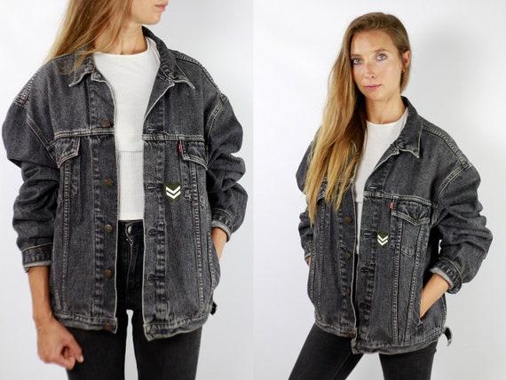 LEVIS Denim Jacket Levis Jean Jacket Denim Jacket Levis Large Jean Jacket Men Levis Jacket Grey Vintage Denim Jacket Men Grey Levis JJ261