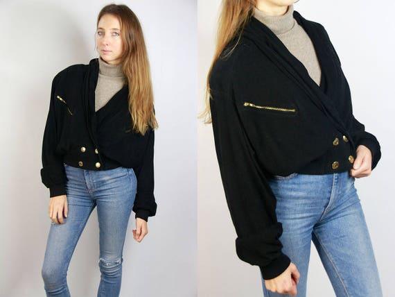 Suede Jacket Black / Black Jacket Suede / 80s Suede Jacket / Black Suede Blazer / Cropped Jacket Black / Vintage Jacket Suede Jacket LJ9