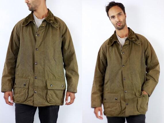 Barbour Coat Barbour Jacket Barbour Wax Jacket Barbour Wax Coat Barbour Green Jacket Barbour Green Coat Barbour Moorland Vintage Jacket C106