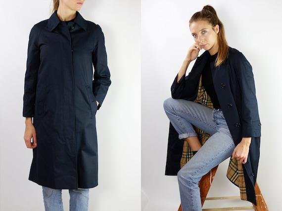 BURBERRYS Trenchcoat Vintage Burberry Coat Blue Women Trenchcoat BURBERRY Trench Coat Vintage Coat Burberry Jacket Blue Coat Burberrys CO27
