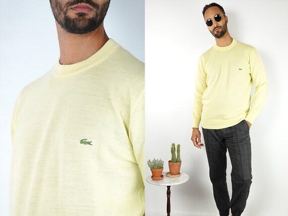 LACOSTE Jumper Lacoste Sweater Yellow Lacoste Sweatshirt 90s Sweater Lacoste Vintage Vintage Jumper Vintage Sweater Vintage Clothing WP124