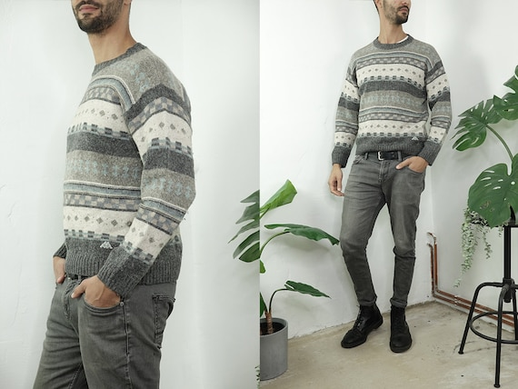 Wool Jumper Fair Isle Jumper Kappa Sweater Norwegian Jumper Scandinavian Sweater Nordic Jumper Second Hand Vintage Clothing Wp289