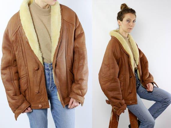 Sheepskin Jacket / Sheepskin Coat / Shearling Jacket / Shearling Coat / Vintage Shearling Coat Sherpa Coat Sherpa Jacket Suede Jacket WLM17