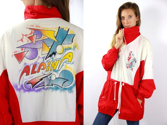 Vintage Windbreaker Jacket 90s Windbreaker Rare Windbreaker Retro Windbreaker Vintage Track Jacket 90s Track Jacket 90s Shell Jacket Alpina