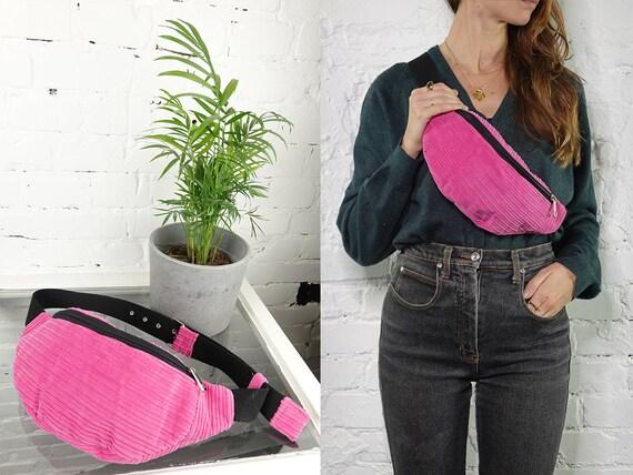 Bum Bag Corduroy Belt Bag Women Fanny Pack Vegan Waist Pack Hip Bag Black Bum Bag Vintage Clothing Corduroy Belt Bag Festival Bum Bag BB28