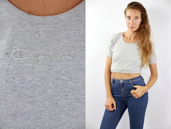 Champion T-Shirt 90s Grey Champion Shirt Vintage Champion Top Grey Champion T-Shirt Champion Retro Shirt Grey Champion Top Champion Vintage