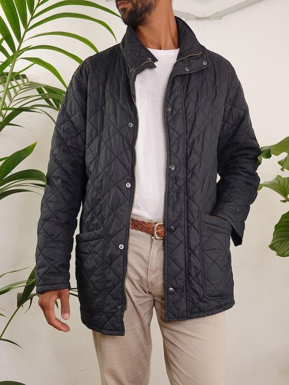 Barbour Jacket Black Quilted Barbour Coat Barbour… - image 8