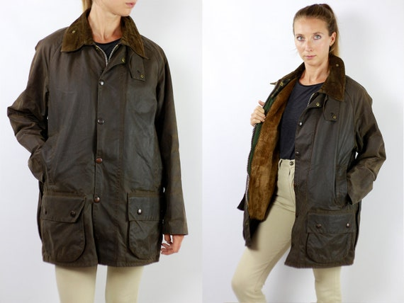 Barbour Coat Barbour Jacket Barbour Wax Jacket Barbour Wax Coat Barbour Green Jacket Barbour Green Coat Barbour Moorland Vintage Jacket C91