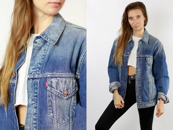 Levis Denim Jacket Vintage Levis Oversize Jean Jacket Large Denim Jacket Levis Jean Jacket Blue Denim Jacket Vintage Clothing DJ93