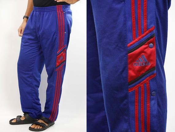Button ADIDAS Track Pants / Track Pants Adidas / Vintage Adidas Pants / Sports Pants Adidas / Blue Adidas Pants / 90s Sport Pants / Vintage