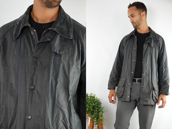 Barbour Coat Barbour Jacket Barbour Wax Jacket Barbour Wax Coat Barbour Blue Jacket Barbour Blue Coat Barbour Beaufort Vintage Jacket CO96