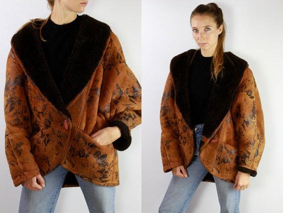Shearling Jacket / Shearling Coat / Shearling / Sheepskin Jacket / Sheepskin Coat / Sheepskin Suede Jacket Suede Coat Brown Suede Coat SH12