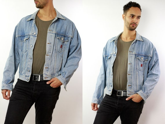 Denim Jacket Vintage Denim Jacket Oversize Jean Jacket 90s Denim Jacket 90s Jean Jacket Blue Jean Jacket Large Denim Jacket Grunge DJ49