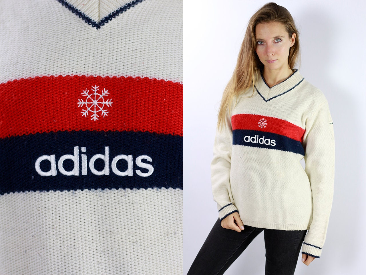 ef8cd59ae3b Adidas Sweatshirt Adidas Sweater Adidas Jumper 90s Adidas Jacket ...
