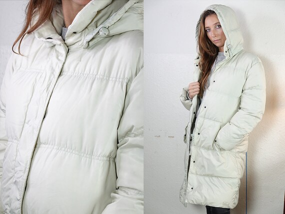 Fila Puffer Jacket Fila 90s Jacket Fila Jacket 90s Puffer jacket White puffer Jacket Fila Down Jacket Small Puffer Vintage Clothing JA137