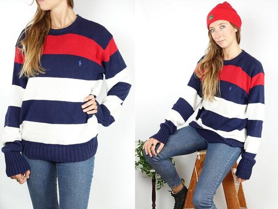 RALPH LAUREN Jumper Ralph Lauren Sweater Ralph Lauren Women Polo Ralph Lauren Blue cotton Jumper Blue cotton Sweater Vintage Jumper WP80