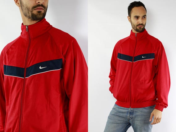 Nike Windbreaker / Nike Track Jacket / Windbreaker Nike / Track Jacket Nike / Shell Jacket Nike / Nike Shell Jacket / Red Windbreaker / Red