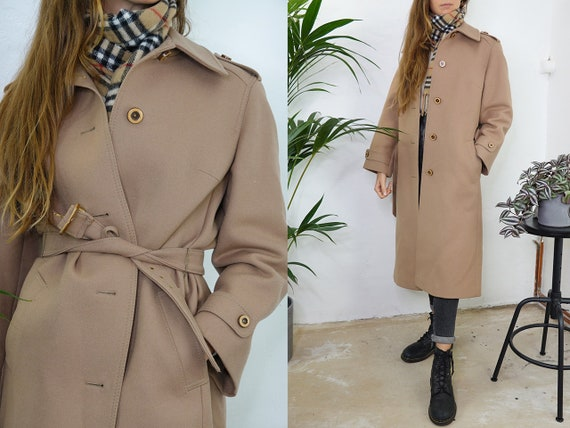 Vintage Coat Vintage Wool Coat beige Vintage Coat