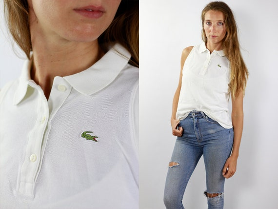 Lacoste Poloshirt White Poloshirt Lacoste Polo Shirt Vintage Lacoste Polo Shirt Lacoste Shirt White Polo Shirt Vintage Polo Lacoste Shirt