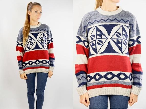 Vans Sweater / Sweater Jumper / Vans Vintage Sweater / Vans Vintage Jumper / 90s Wool Sweater / 90s Wool Jumper / Oversize Sweater / Vans